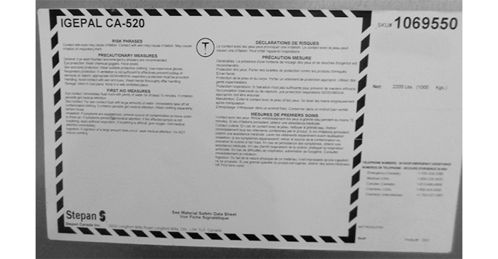 Igepal CA-520 / Octyl Phenol Ethoxylate - Produit